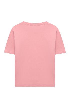 Детская хлопковая футболка DOLCE & GABBANA розового цвета, арт. L5JTAZ/G7BDN/8-14 | Фото 2