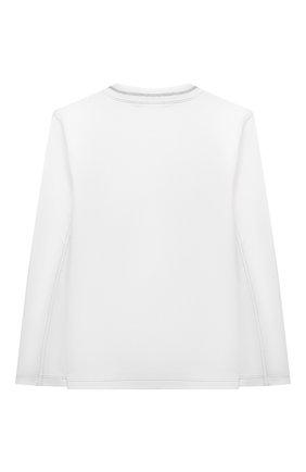 Детская хлопковый пуловер BRUNELLO CUCINELLI белого цвета, арт. B0B13T172B | Фото 2 (Материал внешний: Хлопок; Рукава: Длинные; Мальчики Кросс-КТ: Лонгслив-одежда; Ростовка одежда: 10 - 11 лет | 140 - 146см, 8 лет | 128 см)
