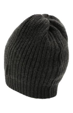 Детского кашемировая шапка BRUNELLO CUCINELLI темно-серого цвета, арт. B52M50299B | Фото 2 (Материал: Кашемир, Шерсть)