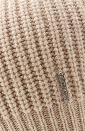 Детского кашемировая шапка BRUNELLO CUCINELLI бежевого цвета, арт. B52M50299B   Фото 3 (Материал: Кашемир, Шерсть)