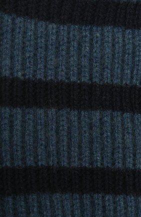 Детский кашемировый шарф LORO PIANA синего цвета, арт. FAL7625 | Фото 2 (Материал: Кашемир, Шерсть)