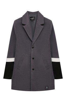 Детское пальто NEIL BARRETT KIDS темно-серого цвета, арт. 028940 | Фото 1