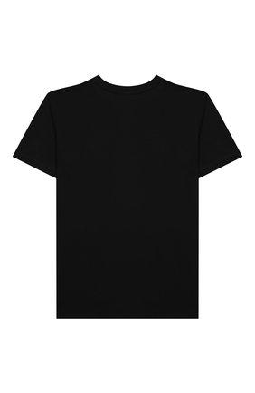 Детская хлопковая футболка NEIL BARRETT KIDS черного цвета, арт. 028934 | Фото 2