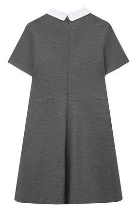 Детское платье из вискозы DAL LAGO темно-серого цвета, арт. R244A/8111/7-12 | Фото 2