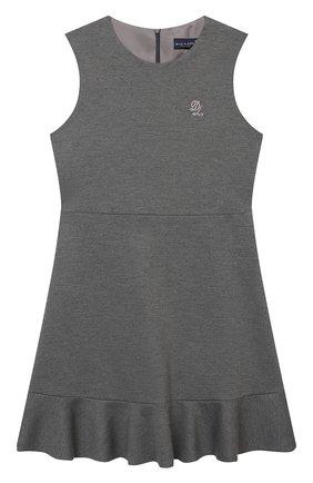 Детское платье из вискозы DAL LAGO темно-серого цвета, арт. R305A/8111/4-6   Фото 1