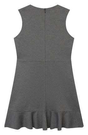 Детское платье из вискозы DAL LAGO темно-серого цвета, арт. R305A/8111/4-6   Фото 2