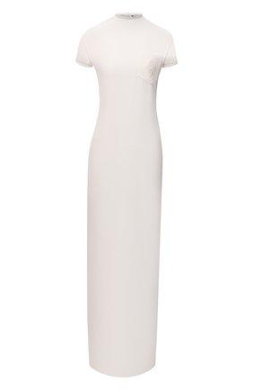 Женское шелковое платье RALPH LAUREN молочного цвета, арт. 290845610 | Фото 1 (Материал подклада: Шелк; Рукава: Короткие; Материал внешний: Шелк; Длина Ж (юбки, платья, шорты): Макси; Стили: Кэжуэл; Женское Кросс-КТ: Платье-одежда; Кросс-КТ: Трикотаж; Случай: Повседневный)