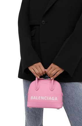 Женская сумка ville xxs BALENCIAGA светло-розового цвета, арт. 550646/1IZ13 | Фото 2