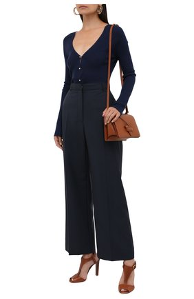 Женские кожаные босоножки emilie RALPH LAUREN коричневого цвета, арт. 800841323 | Фото 2 (Материал внутренний: Натуральная кожа; Каблук высота: Высокий; Каблук тип: Устойчивый; Подошва: Плоская)