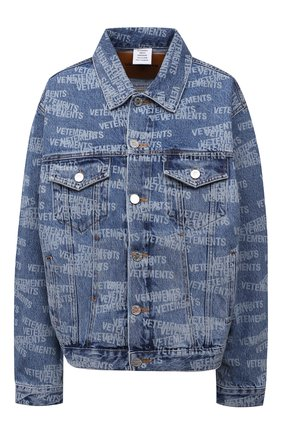 Женская джинсовая куртка VETEMENTS синего цвета, арт. UA52JA250B 2803/W | Фото 1