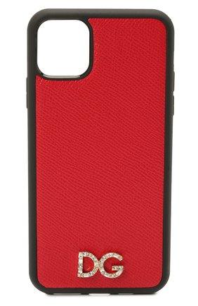 Чехол для iphone 11 pro max DOLCE & GABBANA красного цвета, арт. BI2690/AU770   Фото 1