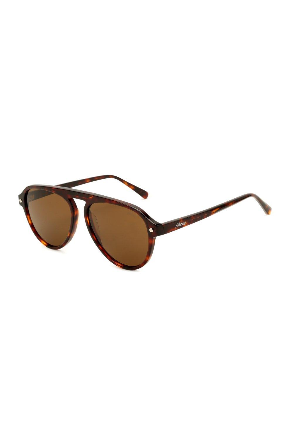 Мужские солнцезащитные очки BRIONI коричневого цвета, арт. 0DE100/P3ZAC | Фото 1 (Материал: Пластик; Тип очков: С/з; Очки форма: Авиаторы; Оптика Гендер: оптика-мужское)