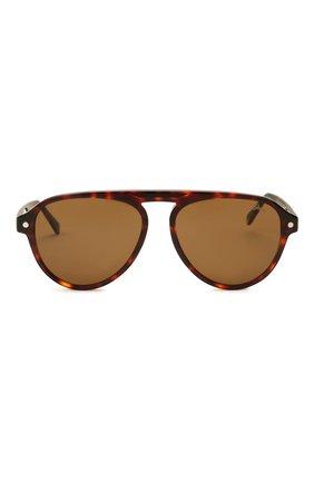 Мужские солнцезащитные очки BRIONI коричневого цвета, арт. 0DE100/P3ZAC | Фото 3 (Материал: Пластик; Тип очков: С/з; Очки форма: Авиаторы; Оптика Гендер: оптика-мужское)