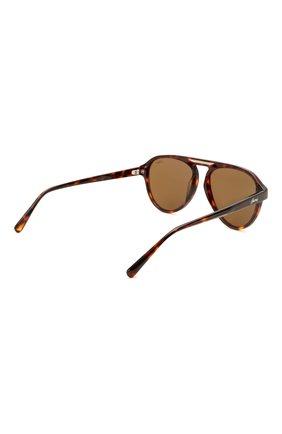 Мужские солнцезащитные очки BRIONI коричневого цвета, арт. 0DE100/P3ZAC | Фото 4 (Материал: Пластик; Тип очков: С/з; Очки форма: Авиаторы; Оптика Гендер: оптика-мужское)