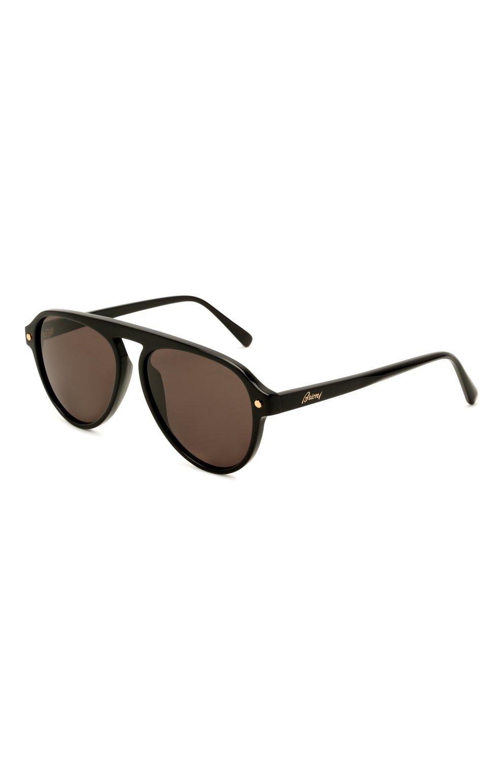 Мужские солнцезащитные очки BRIONI черного цвета, арт. 0DE100/P3ZAC   Фото 1 (Материал: Пластик; Тип очков: С/з; Очки форма: Авиаторы; Оптика Гендер: оптика-мужское)