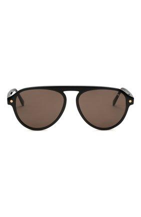 Мужские солнцезащитные очки BRIONI черного цвета, арт. 0DE100/P3ZAC   Фото 3 (Материал: Пластик; Тип очков: С/з; Очки форма: Авиаторы; Оптика Гендер: оптика-мужское)