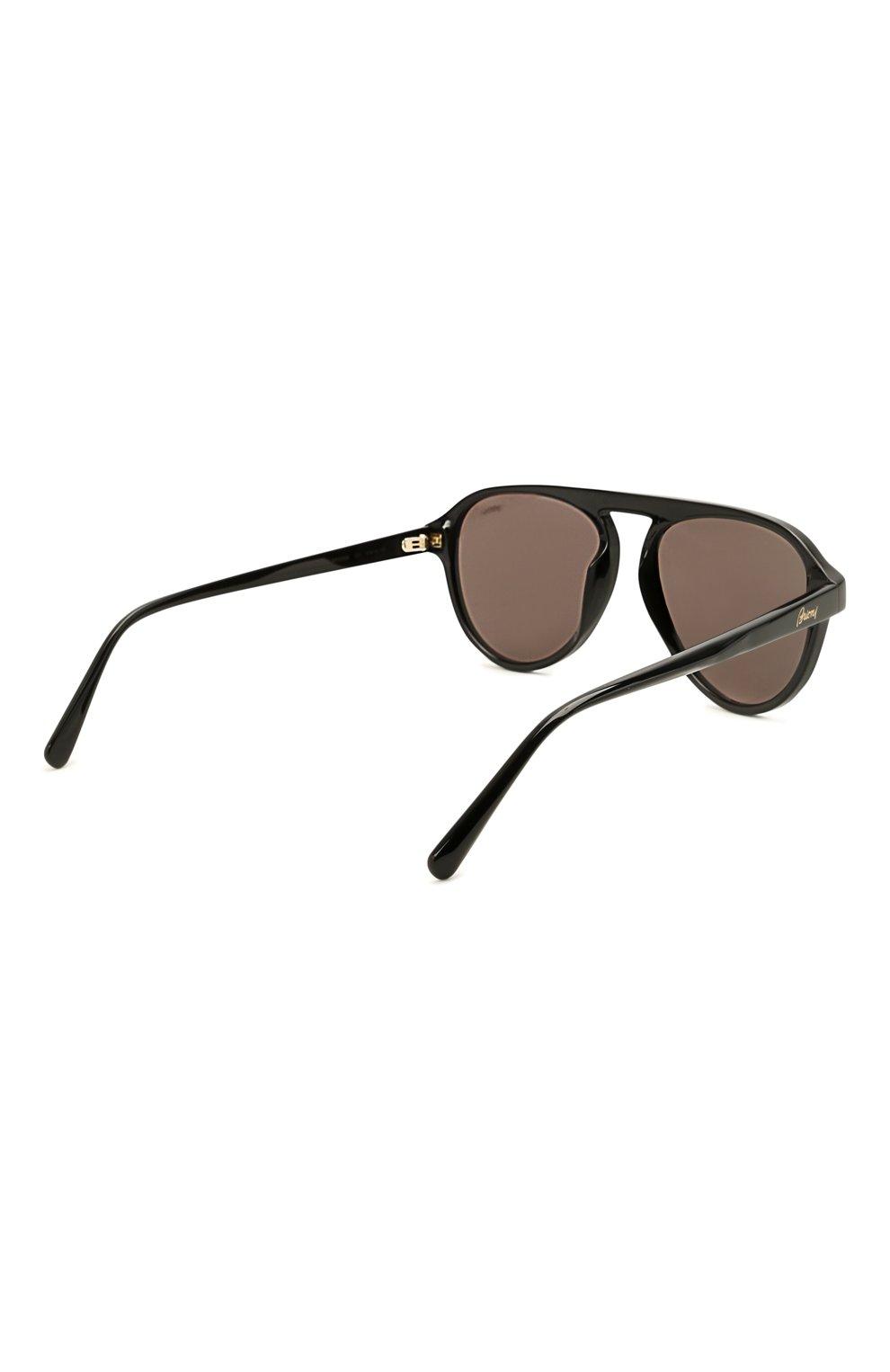Мужские солнцезащитные очки BRIONI черного цвета, арт. 0DE100/P3ZAC   Фото 4 (Материал: Пластик; Тип очков: С/з; Очки форма: Авиаторы; Оптика Гендер: оптика-мужское)