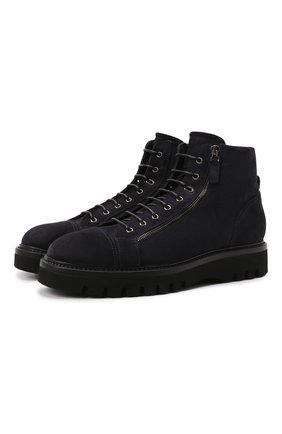Мужские замшевые ботинки W.GIBBS синего цвета, арт. 0672001/2576 | Фото 1