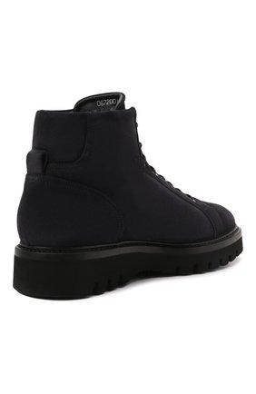 Мужские замшевые ботинки W.GIBBS синего цвета, арт. 0672001/2576 | Фото 4 (Материал утеплителя: Натуральный мех; Мужское Кросс-КТ: Ботинки-обувь, зимние ботинки; Подошва: Массивная; Материал внешний: Замша)