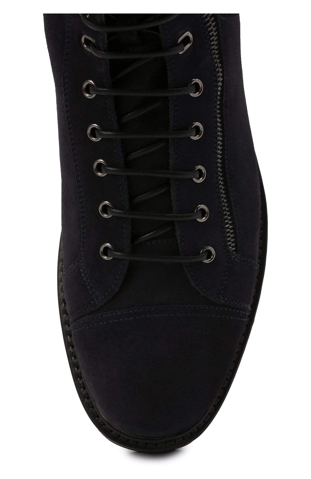 Мужские замшевые ботинки W.GIBBS синего цвета, арт. 0672001/2576 | Фото 5 (Материал утеплителя: Натуральный мех; Мужское Кросс-КТ: Ботинки-обувь, зимние ботинки; Подошва: Массивная; Материал внешний: Замша)