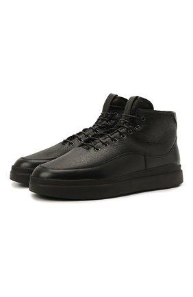 Мужские кожаные ботинки W.GIBBS черного цвета, арт. 3050066/2503 | Фото 1