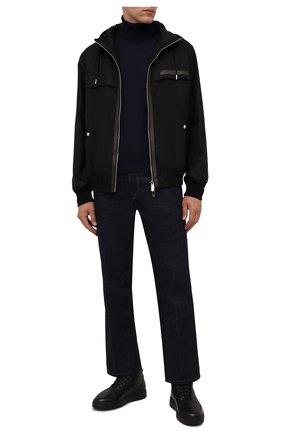 Мужские кожаные ботинки W.GIBBS черного цвета, арт. 3050066/2503 | Фото 2