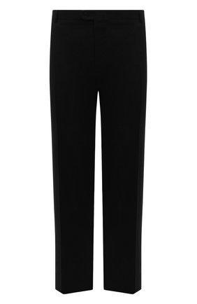Мужские брюки из шерсти и кашемира BRIONI черного цвета, арт. RPAV0Q/08AB3/M0ENA | Фото 1 (Материал подклада: Хлопок, Синтетический материал; Материал внешний: Шерсть; Случай: Формальный; Стили: Классический; Длина (брюки, джинсы): Стандартные)