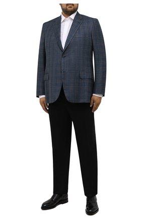 Мужские брюки из шерсти и кашемира BRIONI черного цвета, арт. RPAV0Q/08AB3/M0ENA | Фото 2 (Материал подклада: Хлопок, Синтетический материал; Материал внешний: Шерсть; Случай: Формальный; Стили: Классический; Длина (брюки, джинсы): Стандартные)
