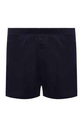 Мужские хлопковые боксеры HANRO темно-синего цвета, арт. 073505 | Фото 1 (Материал внешний: Хлопок; Кросс-КТ: бельё; Мужское Кросс-КТ: Трусы)