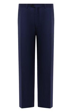 Мужские шерстяные брюки EDUARD DRESSLER темно-синего цвета, арт. N282/10001_2 | Фото 1