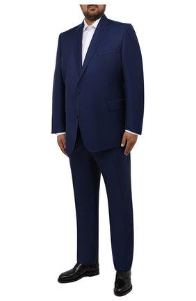 Мужские шерстяные брюки EDUARD DRESSLER темно-синего цвета, арт. N282/10001_2 | Фото 2