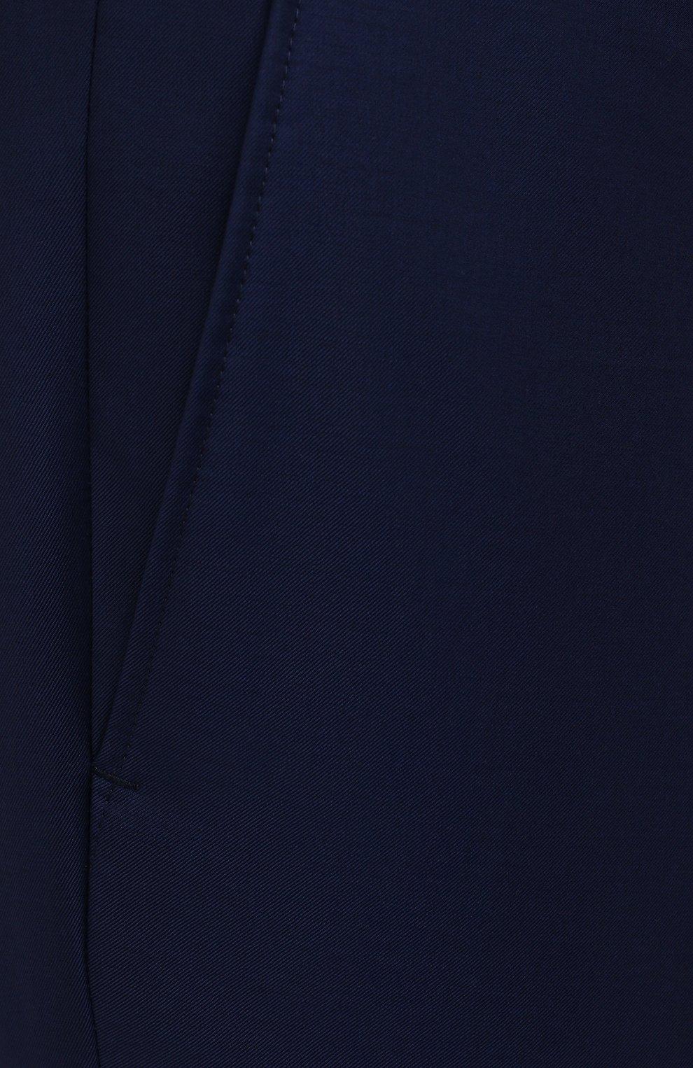 Мужские шерстяные брюки EDUARD DRESSLER темно-синего цвета, арт. N282/10001_2   Фото 5 (Big sizes: Big Sizes; Материал внешний: Шерсть; Длина (брюки, джинсы): Стандартные; Стили: Классический; Случай: Формальный; Материал подклада: Купро)