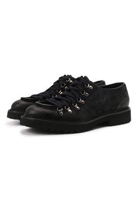 Мужские кожаные ботинки DOUCAL'S темно-синего цвета, арт. DU2736PHILUF205NB00 | Фото 1 (Материал внутренний: Натуральная кожа; Мужское Кросс-КТ: Ботинки-обувь; Подошва: Плоская)