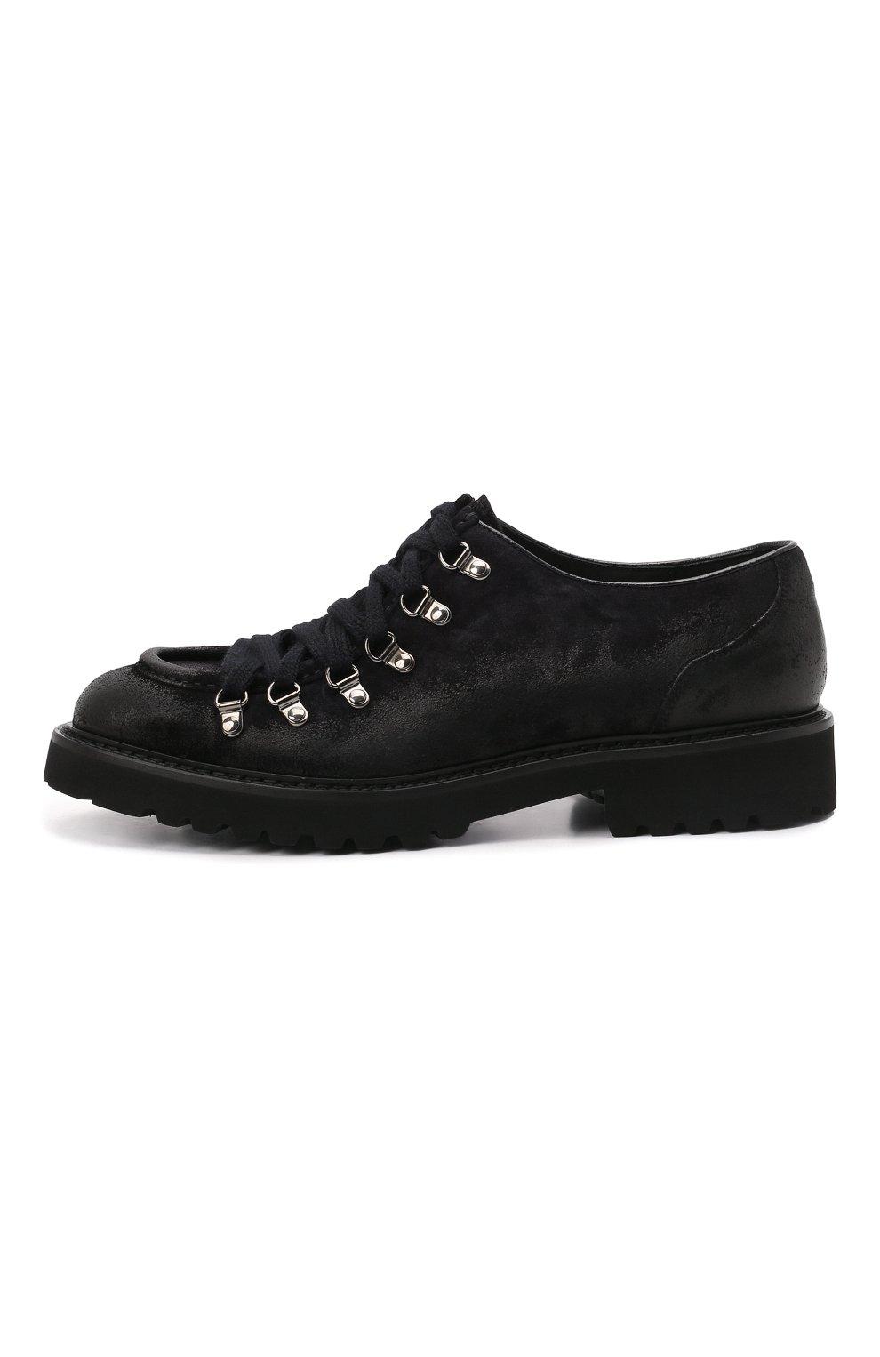 Мужские кожаные ботинки DOUCAL'S темно-синего цвета, арт. DU2736PHILUF205NB00   Фото 3 (Мужское Кросс-КТ: Ботинки-обувь; Материал внутренний: Натуральная кожа; Подошва: Плоская)