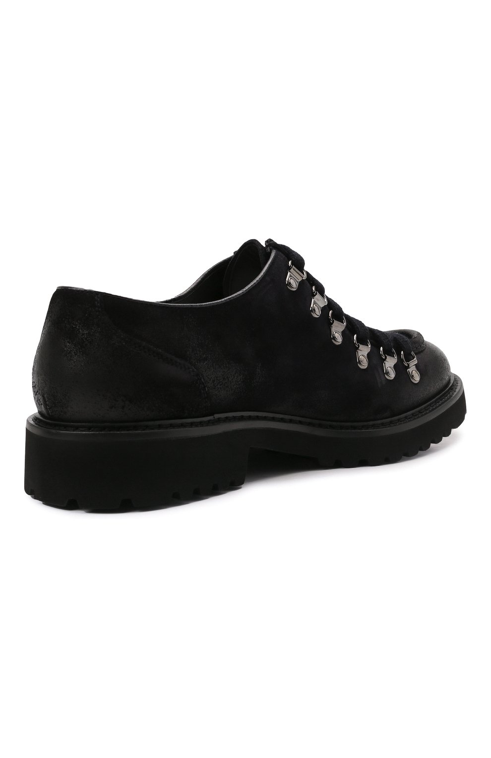 Мужские кожаные ботинки DOUCAL'S темно-синего цвета, арт. DU2736PHILUF205NB00   Фото 4 (Мужское Кросс-КТ: Ботинки-обувь; Материал внутренний: Натуральная кожа; Подошва: Плоская)