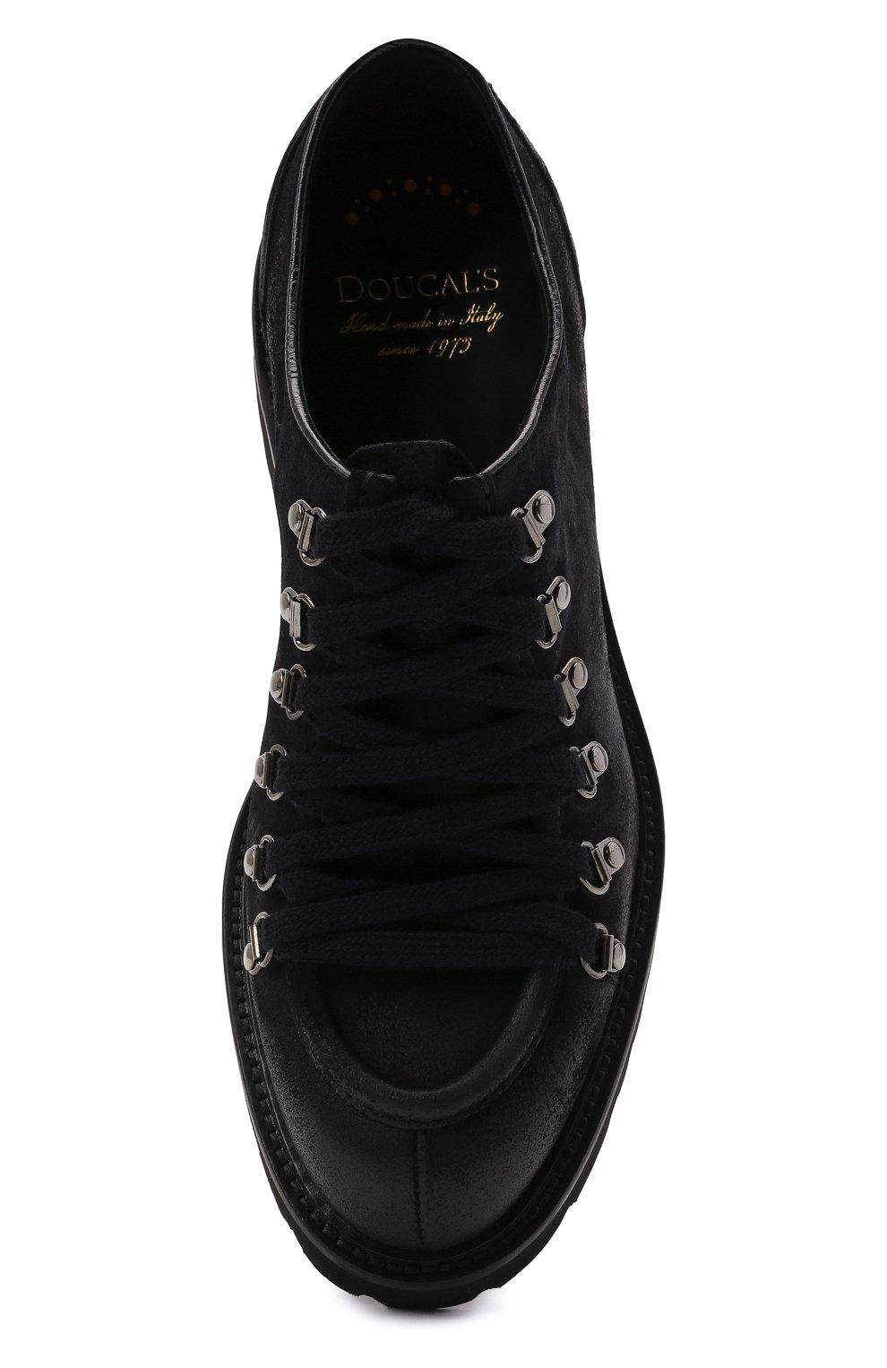 Мужские кожаные ботинки DOUCAL'S темно-синего цвета, арт. DU2736PHILUF205NB00   Фото 5 (Мужское Кросс-КТ: Ботинки-обувь; Материал внутренний: Натуральная кожа; Подошва: Плоская)