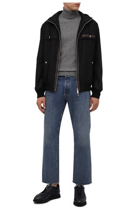 Мужские комбинированные кроссовки DOUCAL'S темно-синего цвета, арт. DU2880WINNPM4672B00 | Фото 2 (Материал утеплителя: Натуральный мех; Подошва: Массивная; Материал внешний: Текстиль; Стили: Классический)