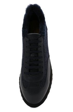 Мужские комбинированные кроссовки DOUCAL'S темно-синего цвета, арт. DU2880WINNPM4672B00 | Фото 5 (Материал внешний: Текстиль; Материал утеплителя: Натуральный мех; Стили: Классический; Подошва: Массивная)
