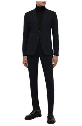 Мужские кожаные дерби SANTONI черного цвета, арт. MCCG17774JW2IPWEN01 | Фото 2
