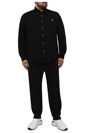 Мужские джоггеры POLO RALPH LAUREN черного цвета, арт. 711725239/PRL BS | Фото 2