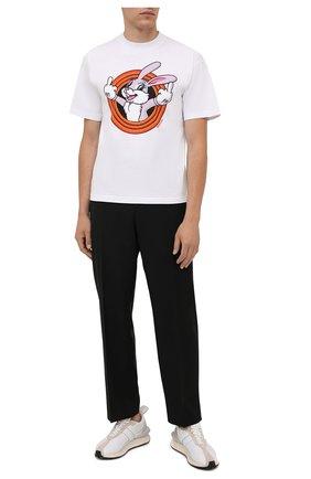 Мужская хлопковая футболка DOMREBEL белого цвета, арт. MHUMPER/B0X T | Фото 2 (Материал внешний: Хлопок; Принт: С принтом; Рукава: Короткие; Стили: Гранж; Длина (для топов): Стандартные)