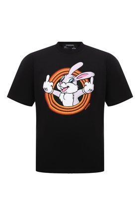 Мужская хлопковая футболка DOMREBEL черного цвета, арт. MHUMPER/B0X T | Фото 1