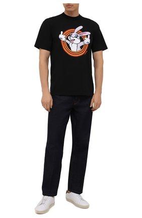 Мужская хлопковая футболка DOMREBEL черного цвета, арт. MHUMPER/B0X T | Фото 2