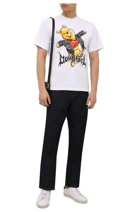 Мужская хлопковая футболка DOMREBEL белого цвета, арт. MHAPPY/B0X T | Фото 2 (Длина (для топов): Стандартные; Материал внешний: Хлопок; Рукава: Короткие; Принт: С принтом; Стили: Гранж)