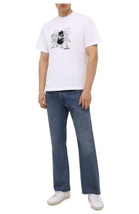 Мужская хлопковая футболка DOMREBEL белого цвета, арт. MCHAMP/B0X T | Фото 2 (Материал внешний: Хлопок; Принт: С принтом; Рукава: Короткие; Стили: Гранж; Длина (для топов): Стандартные)