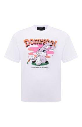Мужская хлопковая футболка DOMREBEL белого цвета, арт. MCARR0TS/B0X T | Фото 1 (Материал внешний: Хлопок; Принт: С принтом; Рукава: Короткие; Стили: Гранж; Длина (для топов): Стандартные)