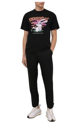 Мужская хлопковая футболка DOMREBEL черного цвета, арт. MCARR0TS/B0X T | Фото 2