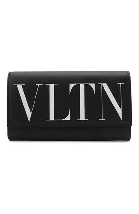 Мужская кожаная сумка vltn VALENTINO черного цвета, арт. WY2P0S37/JBS   Фото 1