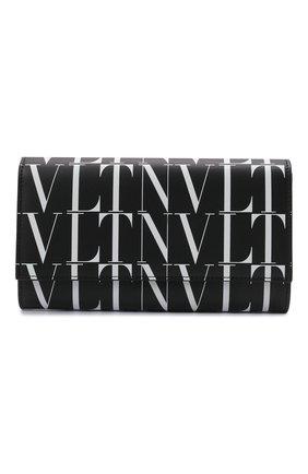 Мужская кожаная сумка vltn VALENTINO черного цвета, арт. WY2P0S37/BLH   Фото 1