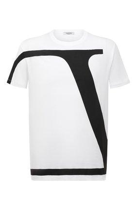Мужская хлопковая футболка VALENTINO белого цвета, арт. WV3MG10V7LR | Фото 1